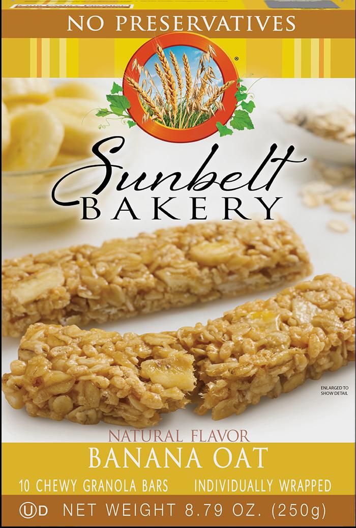 Banana Oat Chewy Granola Bars | Sunbelt